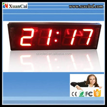 4 inch Red 4 digitals LED countdown timer sign 7 segment LED digital clock display