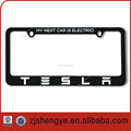european custom decorative plastic license plate frames
