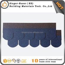 Cheap Chinese quality fiberglass asphalt roofing shingle fish scale roof tiles manufacturers