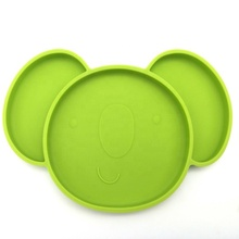 Eco-Friendly Portable Easy Baby Kids Child Silicone Placemat Feeding <strong>Plate</strong> with Suction