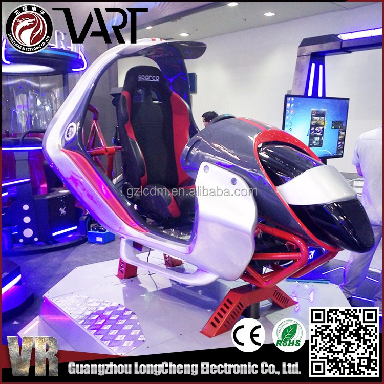 Immersive Virtual Reality 9D VR Racing Car Driving Flight Simulator For Amusement Park