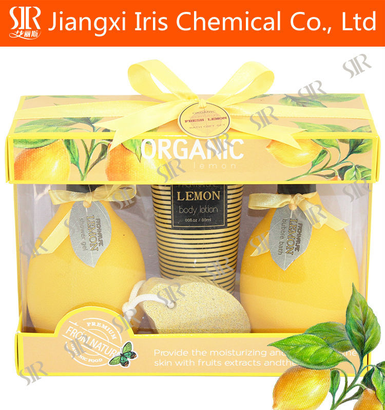 wholesale pineapple essence bath spa gift set in willow basket