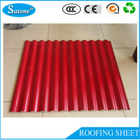 RED/white/blue Corrugated/trapezoidal roofing sheets for sale