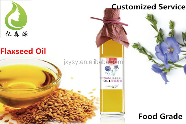 OEM/ODM Private Lable Edible Flaxseed Essential Oil For Cooking Use