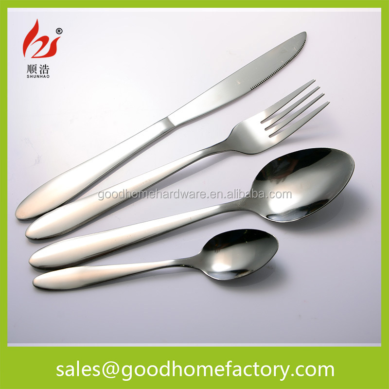 Stainless Steel Inox Cutlery Set, Silver Appearance, Home & Restaurant Essential Cutlery Flatware J04