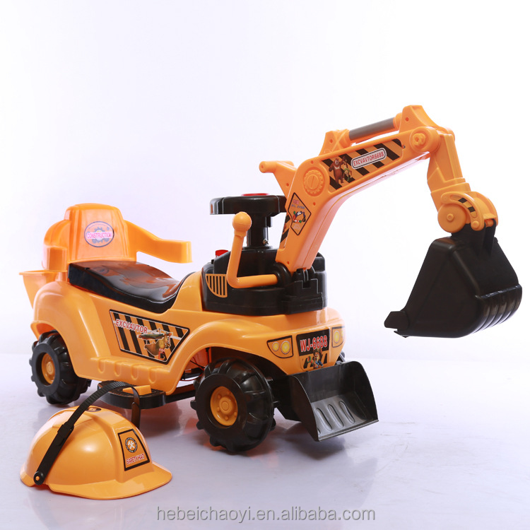Wholesale Ride On Battery Operated Kids Baby electric toy Car/ excavator truck 3 to 7 years old children