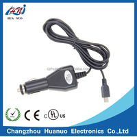 Car charger cigarette lighter plug adapter with electrical cable and mini 5 pin