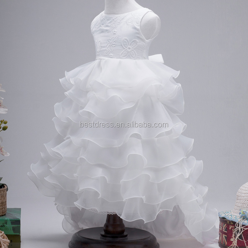 walson Girl Kids Flower Lace Princess Bridesmaid Wedding Layers Formal Tulle Tutu Dress