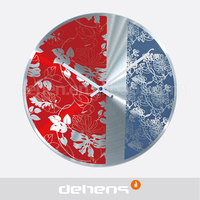 DEHENG beautiful flower face aluminum wall clock