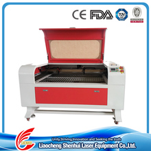 Twin heads Co2 100W shoe design laser engraving machine with red dot