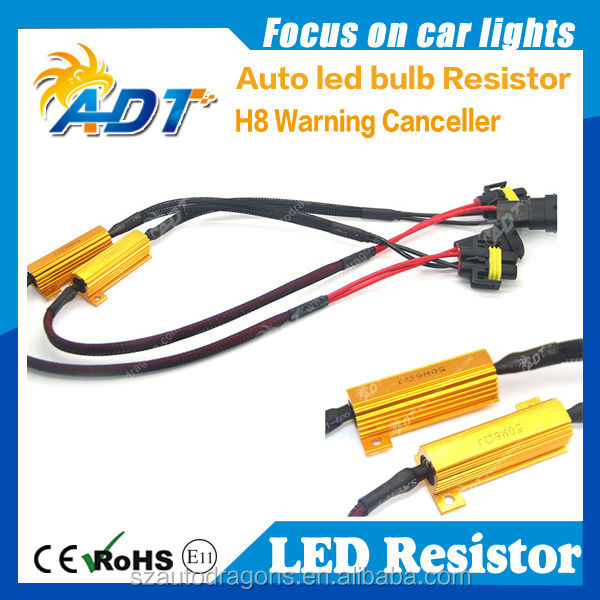 High Power auto led resistor 50w 6Ohm led load resistor solve warning blinking flash