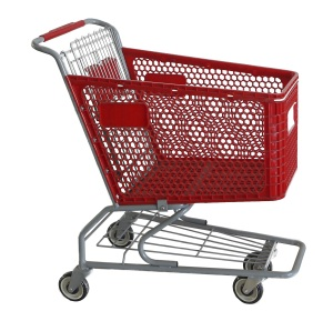 Best Price plastic shopping cart from Changshu YDL factory supply