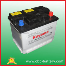 Hot Sell DIN55 55ah 12V Dry charge auto battery car battery