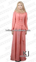 KJ-ALY021 2013 new designs cheap muslim abaya FOR EID with belt