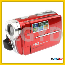 HD5000A Red, HD 720P 5 Mega Pixels 16X Zoom Digital Video Camera with 3.0 inch TFT LCD Screen, 270 degree rotation