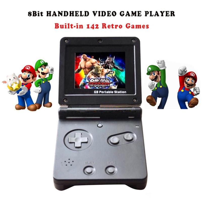 New GB Station Light boy SP PVP Handheld Game Player 8-Bit Game Console with Bulit-in 142 Games Retro Style for Gaming