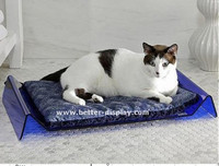 luxury clear acrylic pet cat bed with cushion