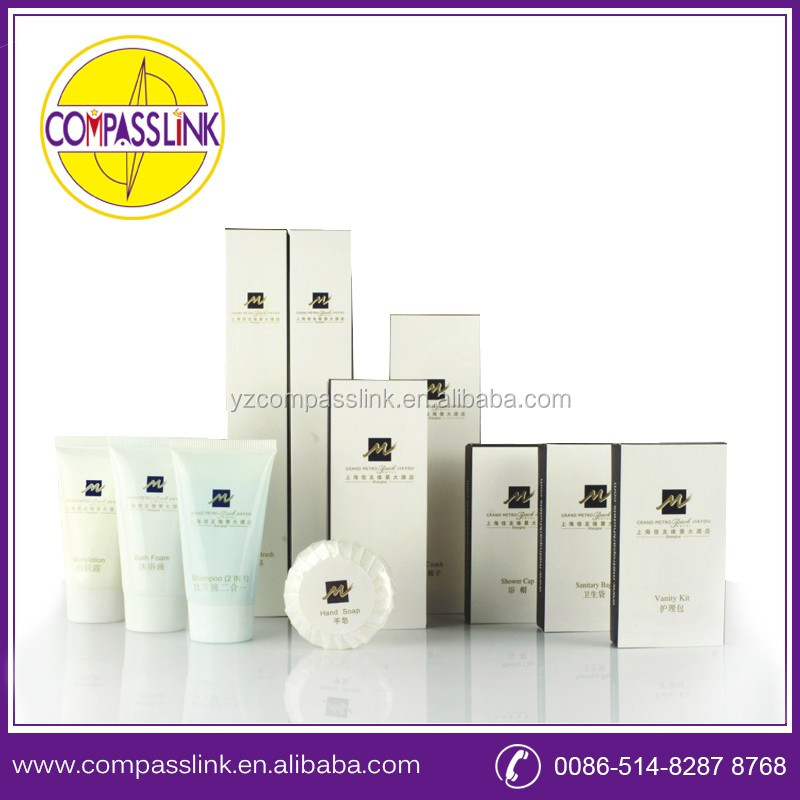 eco-friendly disposable hotel amenitie guest bathroom amenities/shampoo/soap/toothbrush/body lotion/shower gel