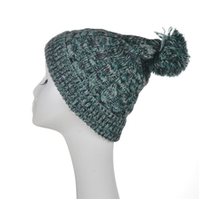 acrylic basic rib knit hat men long pom pom slouch beanie