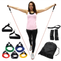 Fitness 11 pcs Yoga Resistance Bands,Natural latex yoga exercise band