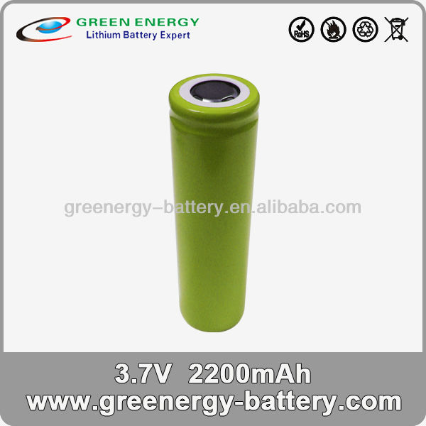 long way rechargeable battery 2200mah 3.7v cylinder li ion battery