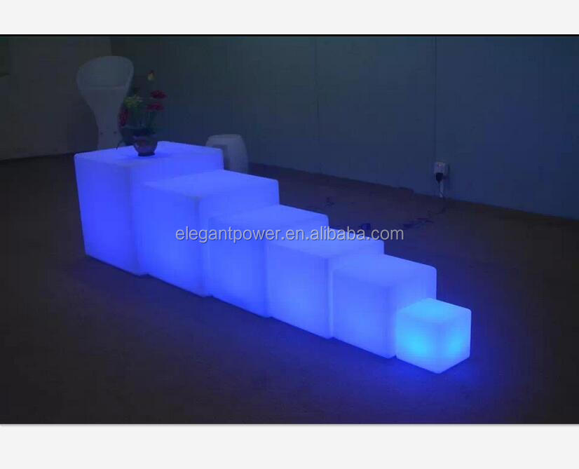 new style color changing wWaterproof led cube seat lighting/led light cube for pool/<strong>bar</strong>/garden/home