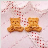 resin food Baked Bear Biscuit Cabochon