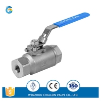 2PC sanitary ball valve high pressure factory price
