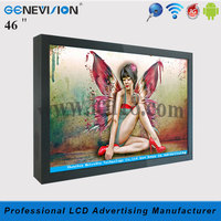 hot sale 46 inch vertical indoor small lcd panel stand advertising display (MG-470A)