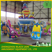 Blue Star Spring Ride Playground Rotating Amusement Rides