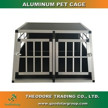 Aluminum pet cage double door large for dog cat portable kennel animal house