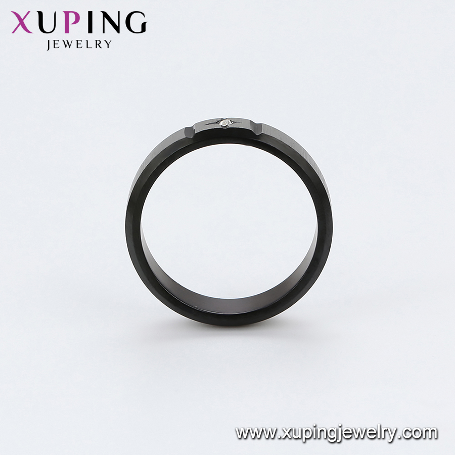 R-109 xuping 316l stainless steel vintage rings with diamond custom women engagement rings