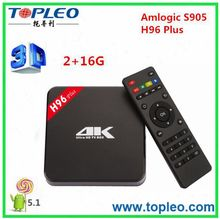 Cheapest S905 H96 plus Build-in WiFi Bluetooth 4.0 Android TV Box