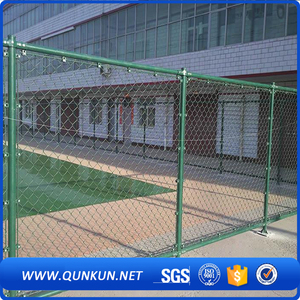 2017 hot sales pvc coating decorative chain link fence