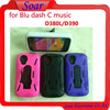 S line Combo Case for Blu dash C music , Hybird Silicone+PC material with Kickstan for Blu dash C music D380L/D390