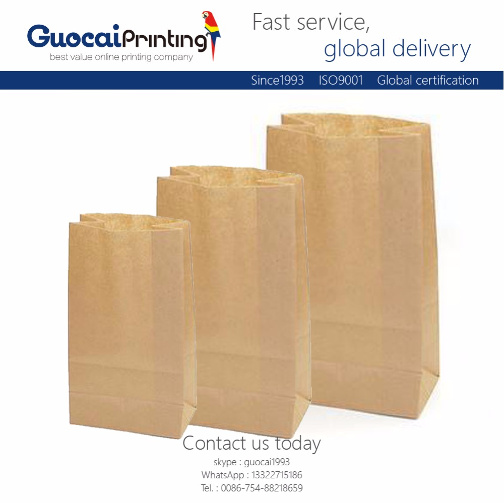 Professional production burger french fries paper bag, paper package bag food