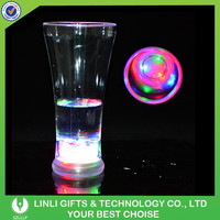 Custom Cheap Plastic Flashing LED Drinking Glass, Colorufl Light Party Up LED Drinking Glass For Party/Event/Bar/Show/Club