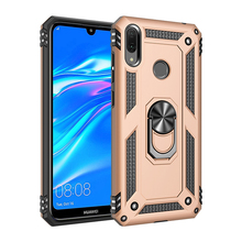 tpu pc phone case cover for huawei Y7 2019 smartphone armor case with ring