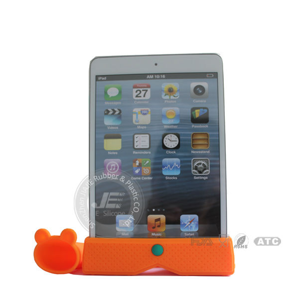 Silicone wireless horn stand speaker for ipad ,silicone amplifier speaker