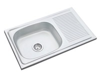 740*440mm single bowl with drainer kitchen sink stainless steel sink