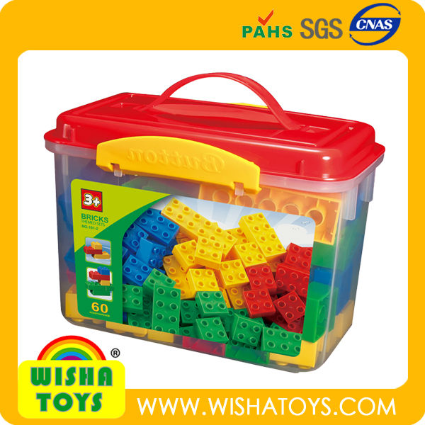 High Quality 72pcs ABS toy blocks set Toy bricks compatible to legos Duplo