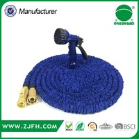 50ft high end TPS brass magic Expandable Garden Hose With strong spray nozzle