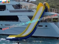 Towable Water Slide Inflatable Water Toys , Floating Yacht For Children