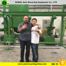 Automatic waste tire recycling rubber powder machine