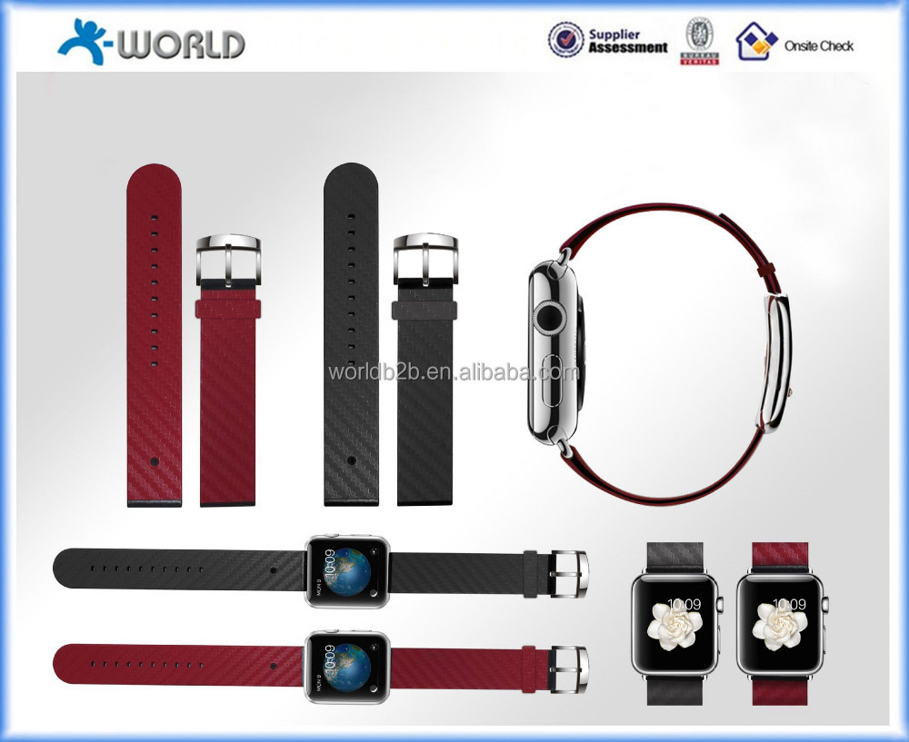 Leather with Classic Texture Watch Strap Replacement Wrist Band Straps for Apple Watch