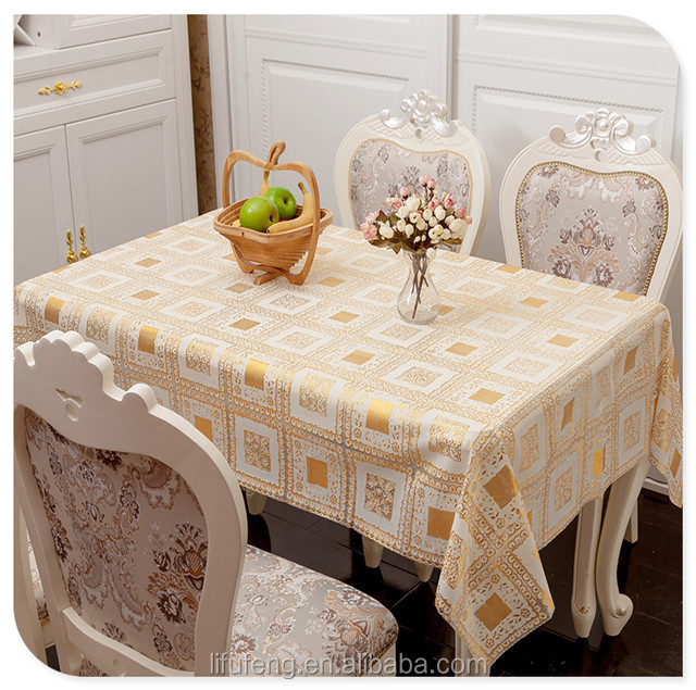 new fashion custom flower pattern embroidery cotton ruffled table cloth