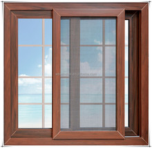 Upvc/pvc wood color frame cheap house sliding window for sale with grill