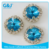 GuoJie brand Wholesale Round Shape for Garments Accessories Cather With Glass Stone crystal