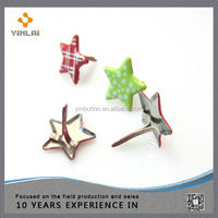 High quality star shaped metal craft brad