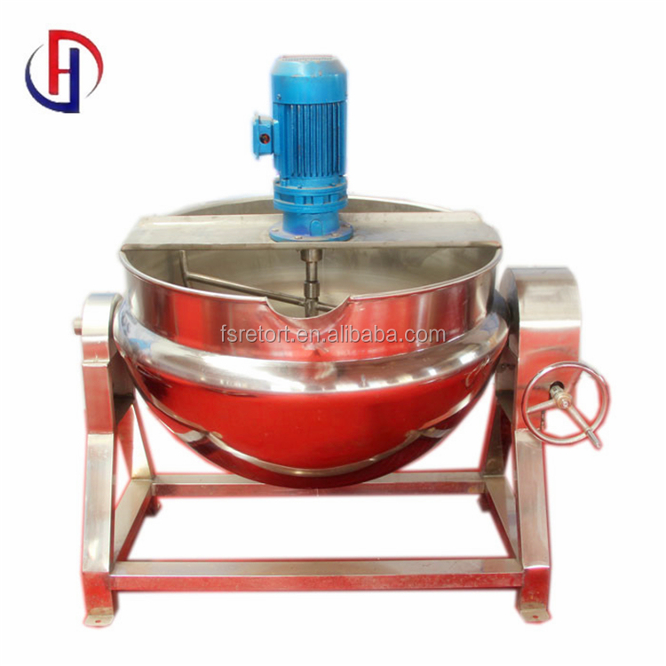 Tilting Electric / steam / gas Heating Jacketed Kettle Pan Boiler Pot